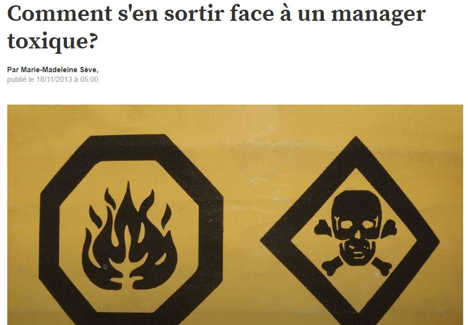 Comment s'en sortir face à un manager toxique?