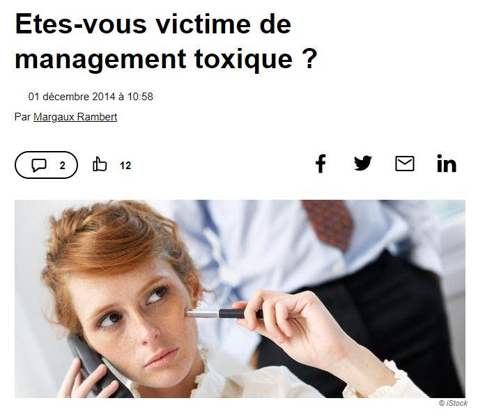 Etes-vous victime de management toxique ?