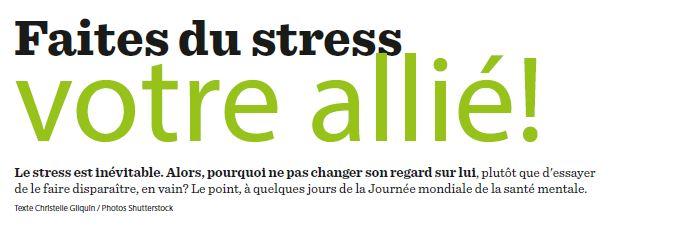 Faites du stress votre allié