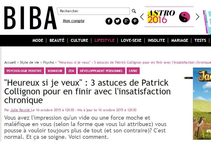 """""""Heureux si je veux"""" : 3 astuces de Patrick Collignon pour en finir avec l'insatisfaction chronique"""